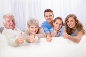 3 generationen familie