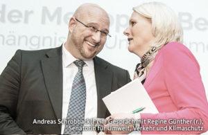 Andreas Schrobback mit Regine Günther, Senatorin für Umwelt, Verkehr & Klimaschutz